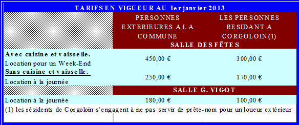 Location des salles mairie de corgoloinmairie de corgoloin - Cheque de garantie location ...